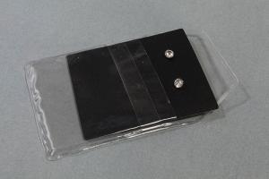 Porta crachá pvc transparente